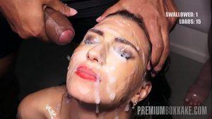 imagen Premium Bukkake – Henna Ssy swallows 45 huge mouthful cum loads